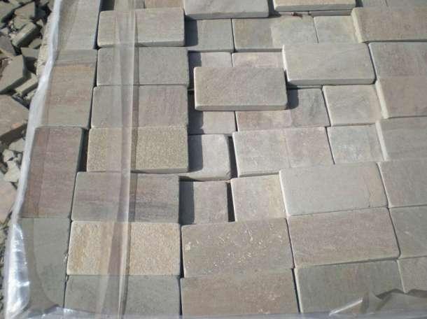 Камень пиленый + галтованный натуральный природный плитка, фотография 1