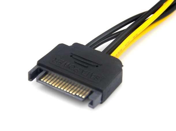 Кабель доп. питания видеокарты PCI-E - SATA, фотография 3