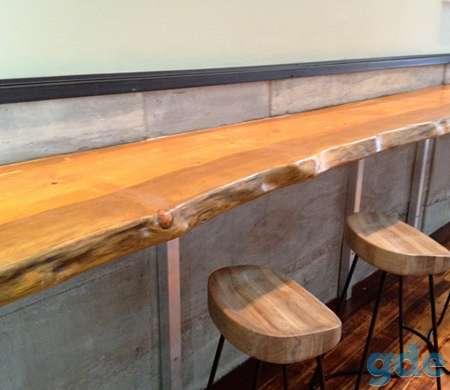 Столы и столешницы для баров и ресторанов из слэба и массива., фотография 2