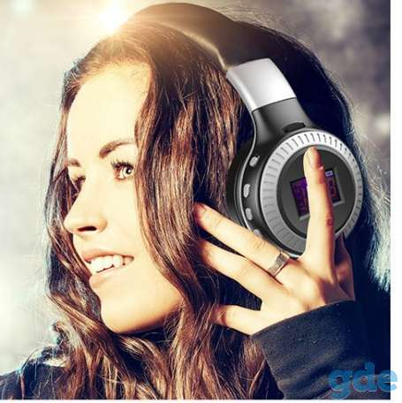Беспроводные Bluetooth наушники ZeaLot B19 FM-радио слот для карт памяти, фотография 4