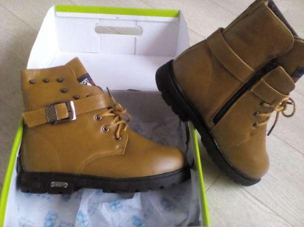 Ультромодные зимние ботинки. Кожаные.Новые., фотография 1