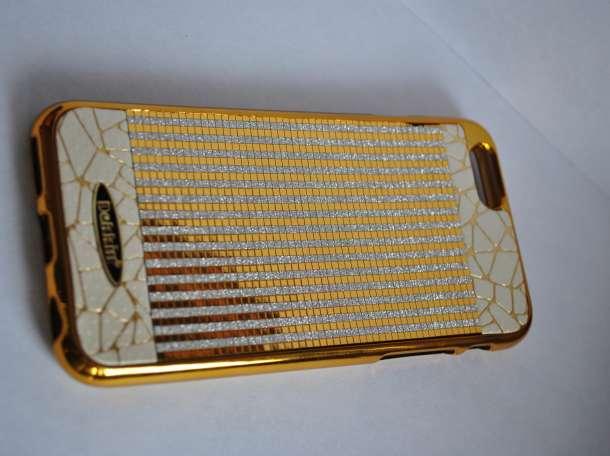 Чехол - бампер для IPhone 6  фирмы Dekkin в золотом цвете ., фотография 3