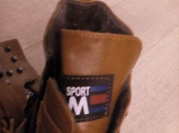 Ультромодные зимние ботинки. Кожаные.Новые., фотография 5