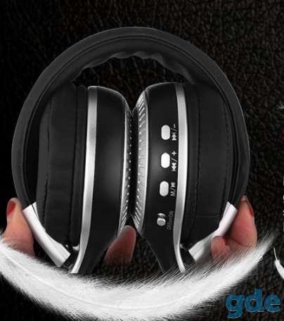 Беспроводные Bluetooth наушники ZeaLot B19 FM-радио слот для карт памяти, фотография 5
