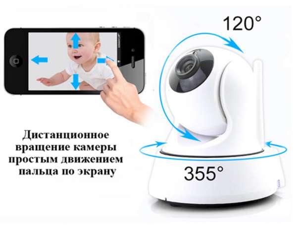 Wi-Fi поворотная камера видеонаблюдения с записью видео и датчиком движения, фотография 6