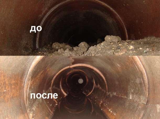 Прочистка канализации. Промывка. Пробивка канализации в Ростове-на-Дону., фотография 1
