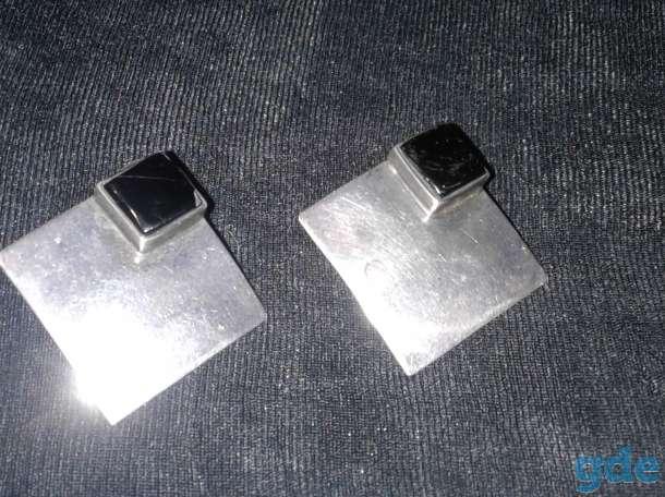 Серьги с натуральным ониксом, фотография 3