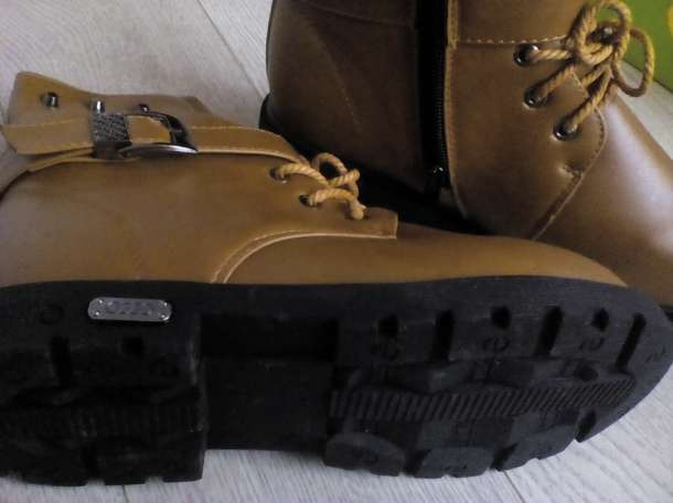Ультромодные зимние ботинки. Кожаные.Новые., фотография 2