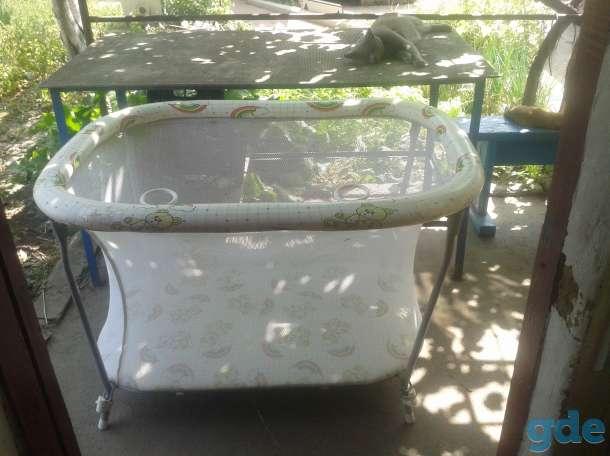 Продаются недорого манежка и детская кроватка, фотография 1