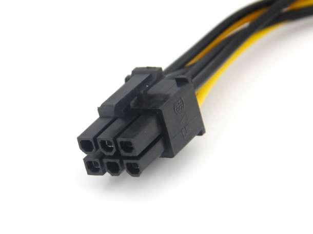 Кабель доп. питания видеокарты PCI-E - SATA, фотография 2