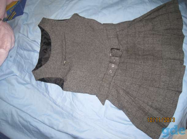 Платье серое 1-4 класс. Можно для школы. Длина  60 см. Ширина 31 см, фотография 3