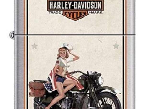 Зажигалка Zippo 9944 Harley Davidson Military US Marines, фотография 1
