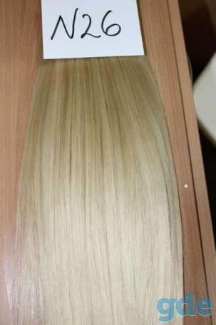 европейские волосы на трессе, фотография 2