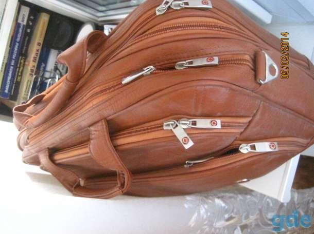 Новая универсальная сумка со многими отделениями  на молниях с ремнем размером 43 х 34 см, фотография 3