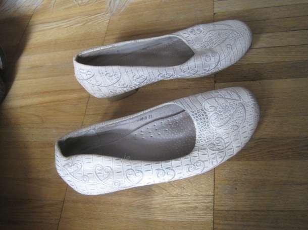 Для девочки. Туфли для танцев спорта и не только в бежевых тонах с красивой однотонной вышивкой. Длина по стельке внутри, фотография 2