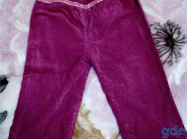 Розовые бархатные брюки, см (2-4 года), фотография 1