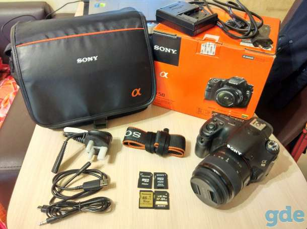.Фотоаппарат Sony a58+аксессуары, фотография 1