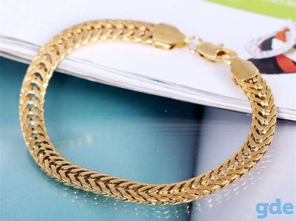 Золотой мужской браслет gold m.золото!дешево!, фотография 3