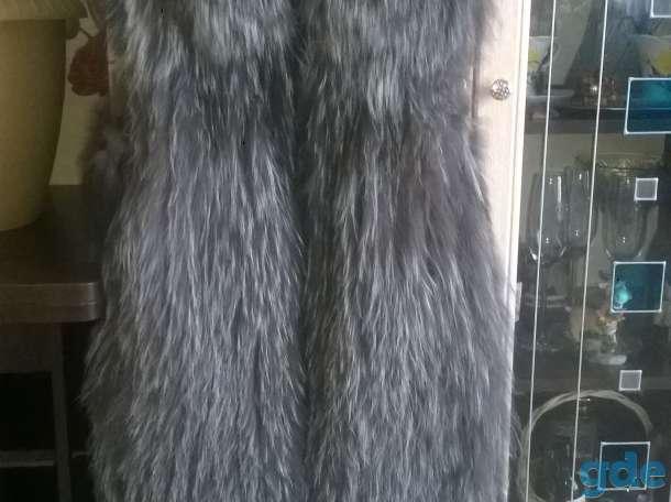 меховой жилет чернобурка, фотография 1