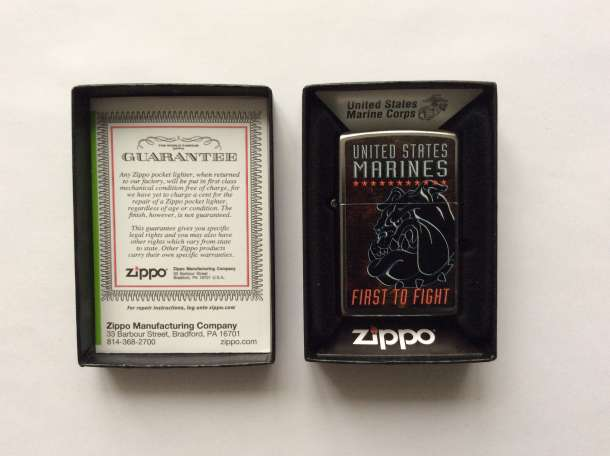 Зажигалка Zippo 207 USMC First To Fight, фотография 4