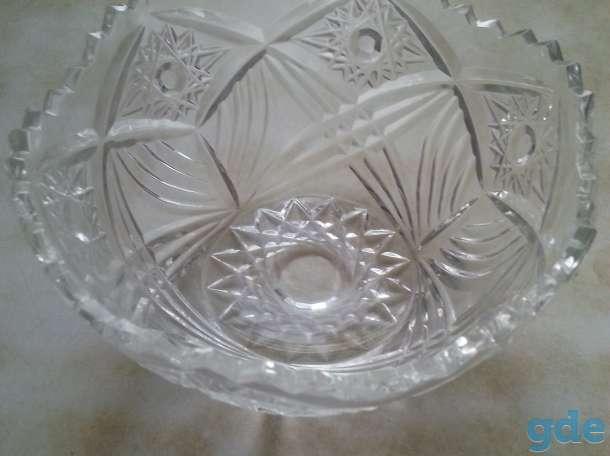 Продам хрустальную вазу конфетницу, фотография 2