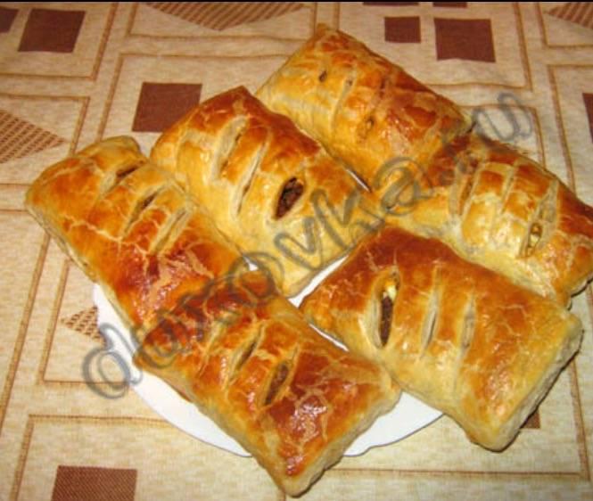 Слоеное тесто с фаршем рецепты с фото