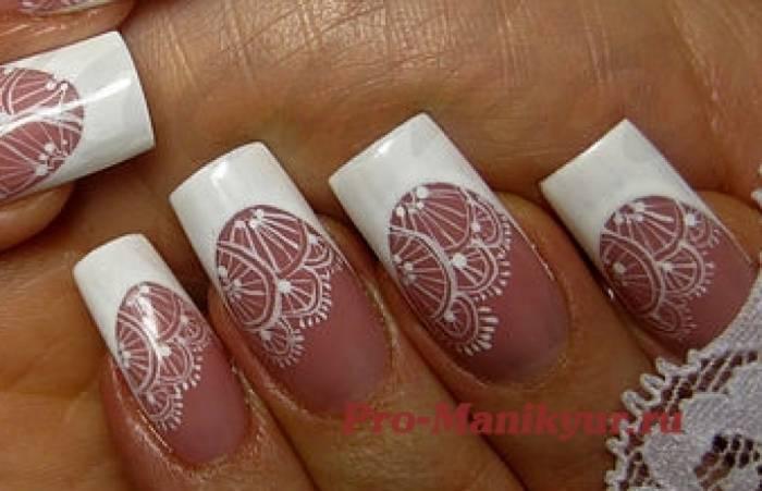 Дизайн ногтей кружевом видео